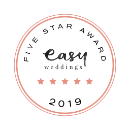 Easy Weddings 5 Star Award 2019