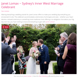Top 10 most popular marriage celebrants in Sydney by Easy Weddings