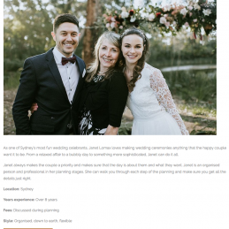 Wedding Diary - Featured in top 20 Marriage Celebrants in Sydney 2018