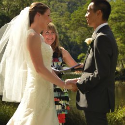 Southern National Park Wedding with a traditional Tea Ceremony.